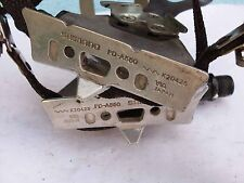 Used road vintage bicycle pedals christophe Shimano 105 PD-1055 straps and clips