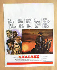 Shalako (Sean Connery Brigitte Bardot) Original film flyer 60s