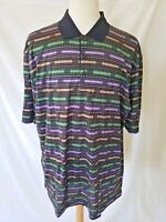 Bugatchi Uomo Men's Polo Abstract Print Short Sleeve Cotton Sz 2XL MSRP $129 NWT
