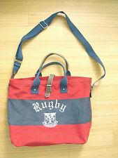 New Rugby Ralph Lauren Canvas Tote Bag Shoulder Messenger Sold Out MSRP $375