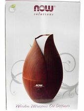 Now Foods Solutions, Wooden Faux Ultrasonic Essential Oil Diffuser Aromatherapy