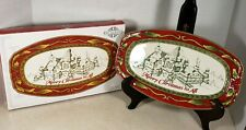 Fitz And Floyd St. Nick Sentiment Tray Candy Dish Christmas Holiday Brand New