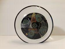 """ROBERT EICKHOLT ART GLASS """"Underwater Seascape"""" Paperweight Disc SIGNED 2006"""