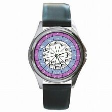 Circle of Fifths Musician Chromatic Music Scale Leather Watch New!