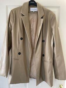 Leather Look Blazer