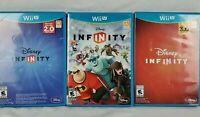 💿 DISNEY INFINITY 2.0 + 3.0 Editions NINTENDO Wii U(3 Game Lot) Family Fun