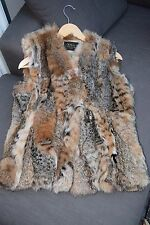 Genuine N. Peal Donna Gilet di pelliccia-TAGLIA M (UK 10-12)