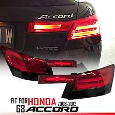 LED Tail Light Lamp Rear BMW Style Red Smoke Fit For Honda Accord Sedan 2008-12