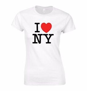 Ladies fit I Love New York T Shirt - I Heart NY Tee