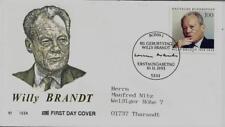 """BRD FDC MiNr 1706 (3cG) """"80. Geburtstag von Willy Brandt"""" -Politiker-Nobelpreis-"""