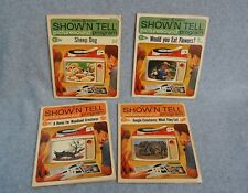 New listing General Electric Ge Show N Tell Picture Sound Program Record Book Lot 4 1964