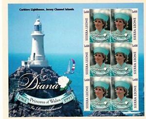 VINTAGE CLASSICS - Sierra Leone 9831 Princess Diana - Set Of 6 Stamps - MNH