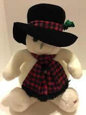 """Snowden Sassy W/ Stovepipe Hat  Plush Snowman Target Exclusive 1997 22"""""""