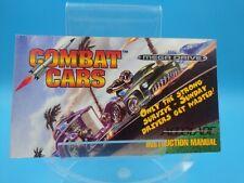 jeu video notice BE sega megadrive combat cars