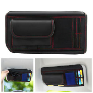 Car Sun Visor Receive Bag Car Boot Storage Holder Card Phone Sunglass Organizer