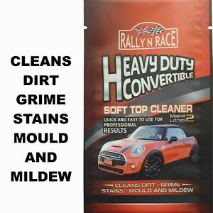 CONVERTIBLE CAR HOOD, SOFT TOP, FABRIC & VINYL ROOF CLEANER  STAINS MOULD MILDEW