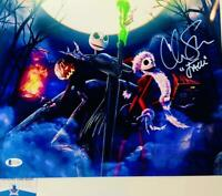 Chris Sarandon signed Jack Skellington 11X14 photo BAS COA WAO4897