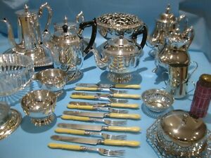 Very Nice Large Job Lot Antique & Vintage Silver Plated Items & Plated Cutlery