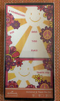 Vintage Hallmark Boxed Invitations Thank You Set 60's 70's Groovy Peace Sign NOS