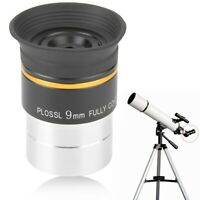 1.25in Plossl Eyepiece 9mm Fully Coated Metal for Astronomic Telescope Accessory