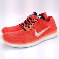 Nike Free RN Flyknit Athletic Running Shoe Mens Size 15 831069-601 Red White