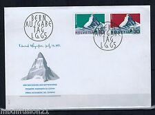 1965 - ENVELOPPE 1°JOUR - ASCENSION DU MONT CERVIN - ALPES.SUISSE.Yt.753/4