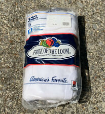 NEW MENS FRUIT OF THE LOOM VINTAGE 1989 3-PACK BRIEFS WHITEY TIGHTY UNDERWEAR 32