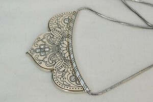 NWT Brighton Casablanca Silver , Resin & Crystal Collar Reversible Necklace $72