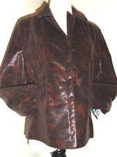 Bianca Nygard Brown Snake Skin/Lizard Imitation Weekend Jacket Blazer Sz 8 NWT