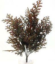 "Autumn Fern Greenery Bush. Green, Brown. Artificial. 20"" Tall"
