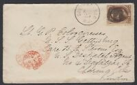 "1878 cover w/10c Banknote (Scott 161), S. Orange, NJ fancy negative ""77"" Dec. 25"