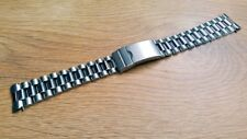 NEW 20MM STAINLESS STEEL CURVED ENDS GENTS WATCH STRAP (SP20.1)