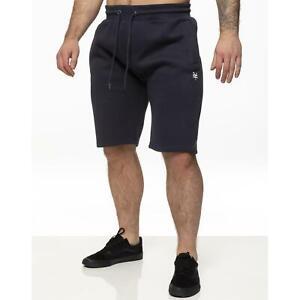 Mens Fleece Shorts Plain Elasticated Gym Sweat Fleece Casual Jogging Short