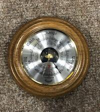 More details for daymaster vintage barometer, 14cm diameter, wall hanging, vintage, wooden base