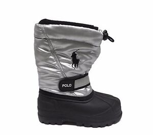 Polo Infants Toddlers WHISTLER SILVER Winter Snow Boots Silver/Black 95281I a1
