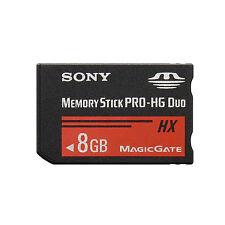 Sony 8GB Speicher Karte Stick PRO-HG Duo HX MSHX8B für Digitalkamera NEU UK