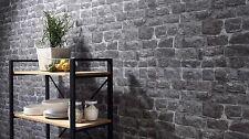 Grey Stone / Brick Wall Wallpaper, Paste the Wall Vinyl By Erismann