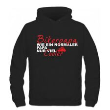 Bikerpapa Papa Vatertag Geschenk Motorrad biken Motorradkleidung texti Shirt h51