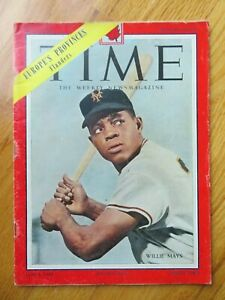 WILLIE MAYS Canadian Edition TIME July 26 1954 Magazine NO LABEL NEW YORK GIANTS