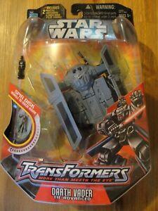 Star Wars Transformers 2006 DARTH VADER TIE ADVANCED Figure Brand New