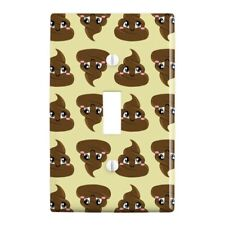 Cute Poop Pattern Plastic Wall Decor Toggle Light Switch Plate Cover