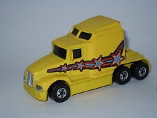 Hotwheels truck 76 Big Rig Rigger Stunt show Kenworth style Majorette Matchbox