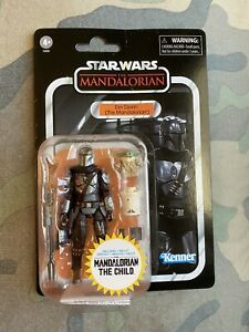 Star Wars Vintage Collection DIN DJARIN (The Mandalorian) and THE CHILD w/ PIN!