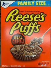 NEW GENERAL MILLS FAMILY SIZE REESES PUFFS 20.7 OZ BOX SWEET CRUNCHY CORN PUFFS
