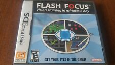 Flash Focus Nintendo DS Lite DSi XL 2DS 3DS Game Complete TESTED & WORKING