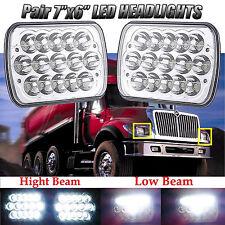 Pair LED Headlights For International Truck 3800 4700 4800 4900 8100 8200 95 -04
