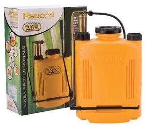 Pompa irroratrice zaino spalla pompante ottone ORIGINALE VOLPI Record 20 litri