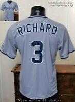 MLB San Diego Padres Baseball Fox Sports SGA Gray ADULT Jersey Richard #3 Sz M