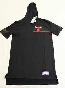 Chicago Bulls Men's Under Armour S/S Hooded T-Shirt SV3 Black Medium NWT