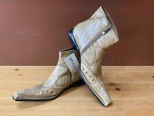 Bravo Men's Dress Boots Babbitt Sand Color Italian Design Size 11 NWT